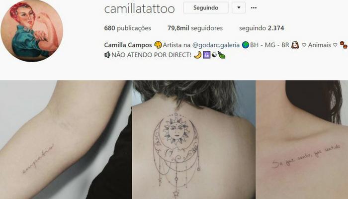 Tatuadoras BH - Camilla Campos