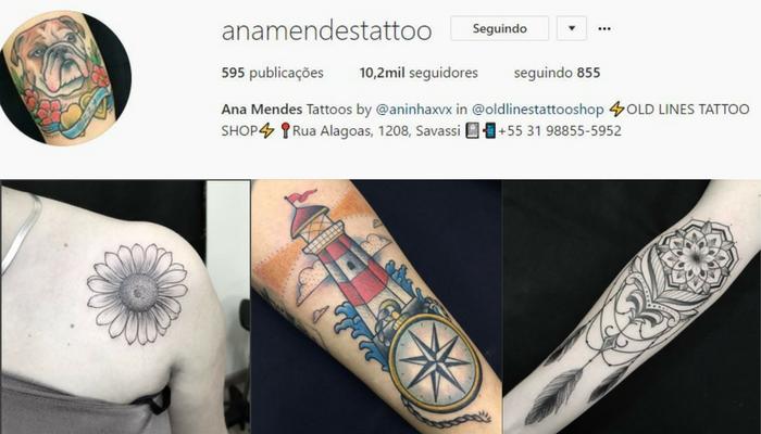Tatuadoras BH - Ana Mendes