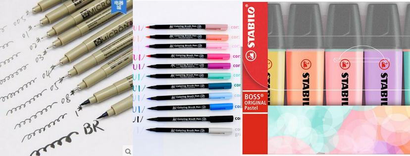 Wishlist de papelaria: canetas