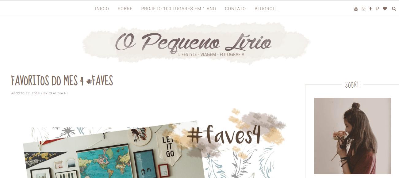 Blog Day - O Pequeno Lírio, por Cláudia