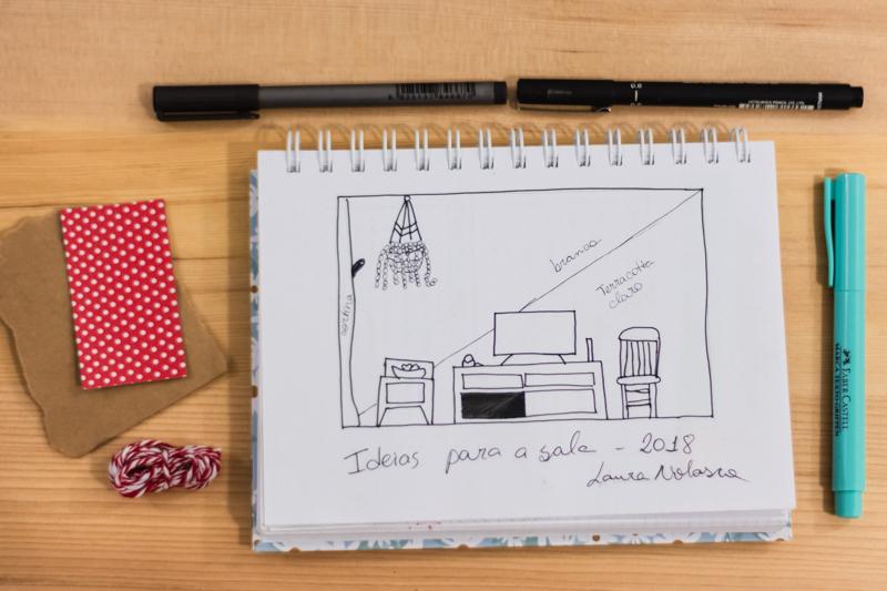 Caderno pontilhado Donna Rita Atelie Journal inspiração
