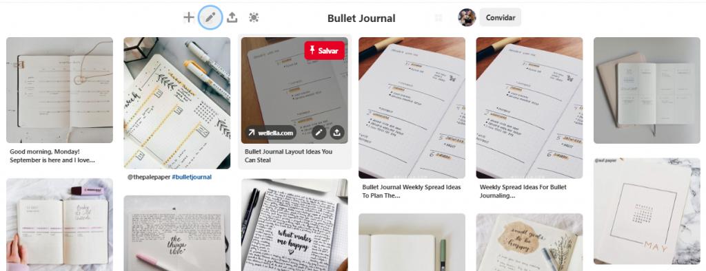 Pinterest pasta Bullet Journal